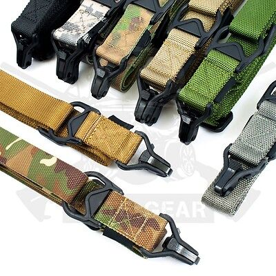 """Tactical 1/2 One/Two Point Multi Mission Sling Quick Release System 1.25"""" Strap"""