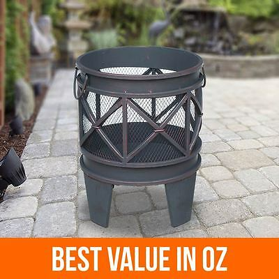 Antique Style Outdoor Steel Fire Pit Camping Fireplace Garden Patio Heater