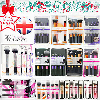 Real Techniques Makeup Brushes Core Collection/Starter Kit/Travel Essentials Set