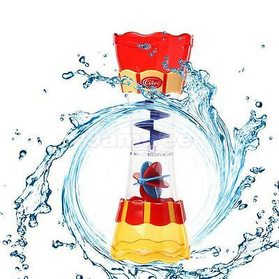 Toddler Baby Plastic Water Whirly Wand Cup Toys Bath Swim Toys Gift Random Color