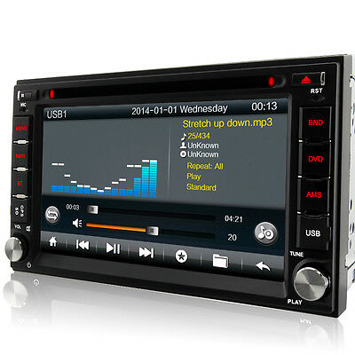"A-Sure Double 2 Din 6.2"" GPS DVD Player sat nav WiFi stereo BT 3G USB FM Radio"