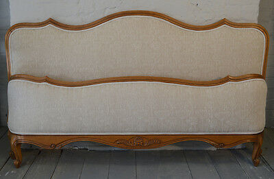 French large King size Louis XV style Vintage Retro Upholstered Bedstead