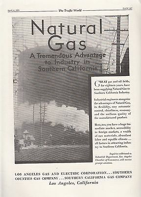 1931 Los Angeles CA Gas & Electric Co Ad: Tremendous Advantage to Industry