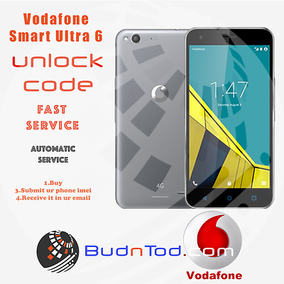 Vodafone Smart Ultra 6 Unlock Code Network Pin Uk Ireland Spain Italy Instant24H