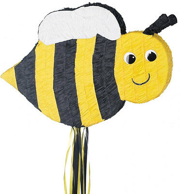 BUMBLE BEE PULL STRING PINATA Fun Kids Birthday Party Game Decoration P33490