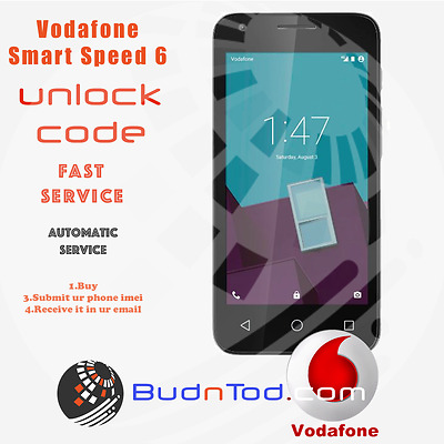 Vodafone Smart Speed 6 Unlock Code Network Pin Uk Ireland Spain Italy Instant24H