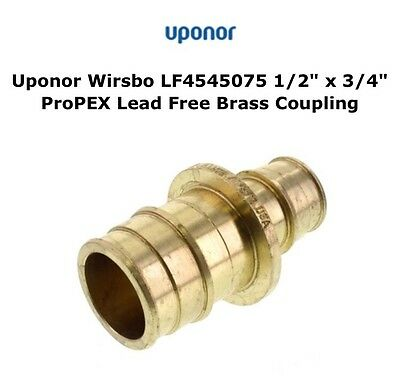 UPONOR WIRSBO LF4545075 Lead Free Brass Coupling 1/2