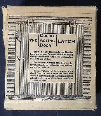 Antique  Double Acting Door Latch Or D.a.d. Latch With Original Box