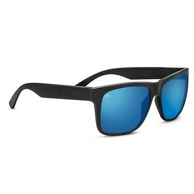 Serengeti Positano Sunglasses (Sanded Dark Grey Frame Polarized 555Nm Blue Lens)