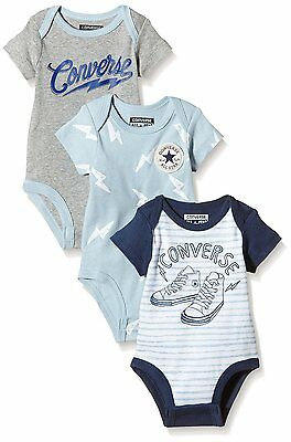 Converse Baby Vests 3 Piece Gift Set - Lightening
