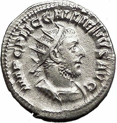 GALLIENUS son of Valerian I Silver Rare Ancient Roman Coin Virtus Cult i55703