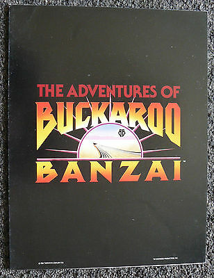 Buckaroo Banzai Original 1984 Movie Program Credit Sheet Cast Characters