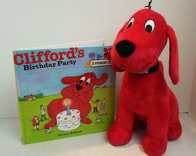 Kohl's Cares Clifford the Big Red Dog Plush and Cliffords Birthday Party Book