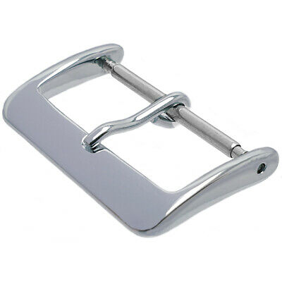 Polished Stainless Steel Watch Strap Buckle With Spring Bar