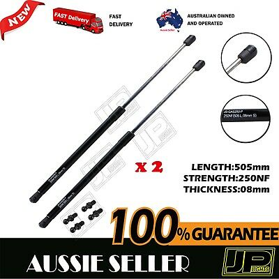 GAS STRUTS PAIR 250NF 505mm (8mm Shaft) CAMPER TRAILER CARAVAN CANOPY TOOLBOX