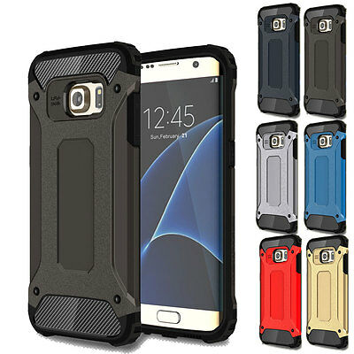 Shockproof Armor Hybrid Rugged Rubber Hard Case Cover For Samsung Galaxy Phone