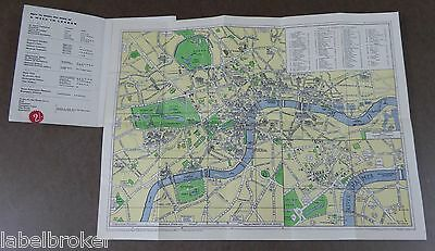 Rare Pictorial Map Of London C1950 Original Excellent Condition City View Plan