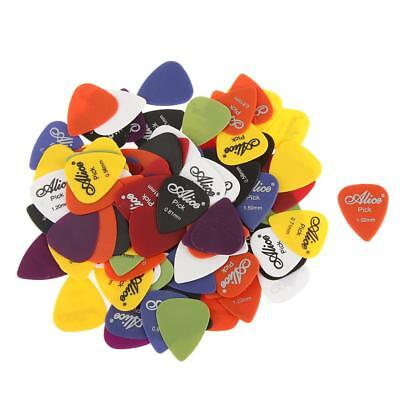 100 Alice Mixed Guitar Picks Plectrums Set For Acoustic Electric Bass Guitar