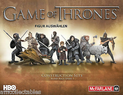 McFARLANE HBO GAME OF THRONES BUILDING SET - FIGUR AUSWÄHLEN - NEU