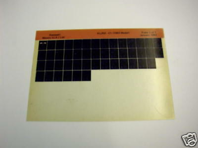 Kawasaki Kl250 Kl 250 C1 Gen Part Catalogue Microfiche