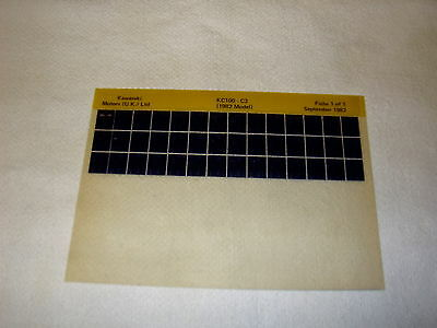 Kawasaki Kc100 Kc 100 C3 (1982 Model) Gen Part Catalogue Microfiche