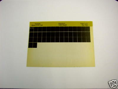 Kawasaki Kh125 Kh 125 K1 Gen Part Catalogue Microfiche