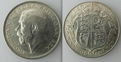 Collectable 1917 Silver First Coinage of King George V Half-Crown E.F Condition
