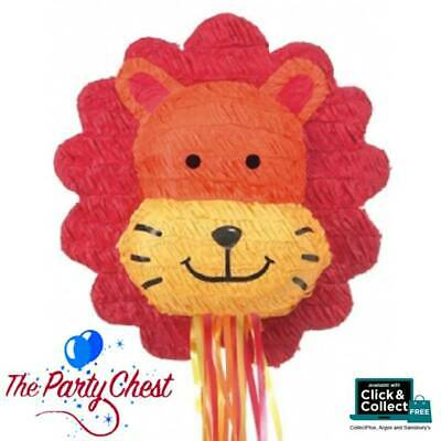 LION HEAD PULL STRING PINATA Fun Kids Birthday Party Game Decoration P33456