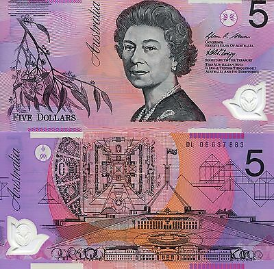 AUSTRALIA 5 Dollars Banknote World Money Currency UNC Note Pick p57f BILL $5
