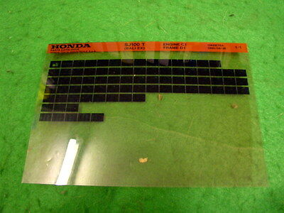 Honda Sj100 Sj 100 T  Bali Ex 1995 Genuine Parts Catalogue Microfiche