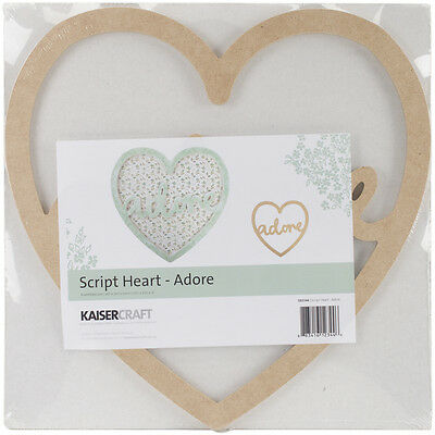 """Beyond The Page MDF Adore Script Heart-10.5""""X10.5""""X.25"""" """