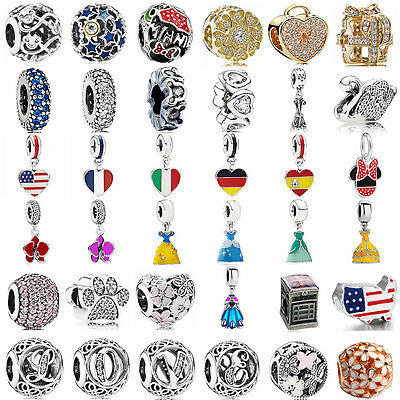 925 sterling authentic silver charm bead For European charms bracelet chain UK