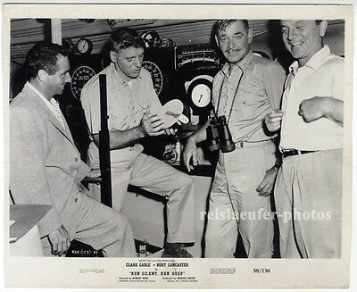 "Clark Gable, Burt Lancaster in ""Run silent…""U23, Promo-Photo, von 1958"