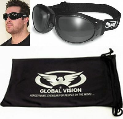 Motorcycle Riding Goggles SMOKE Googles Daytime Padded Biker Riding BURNING MAN
