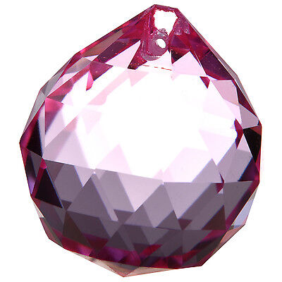 40mm Vintage Crystal PINK Feng Shui Ball Placed in window ornament make Rainbow