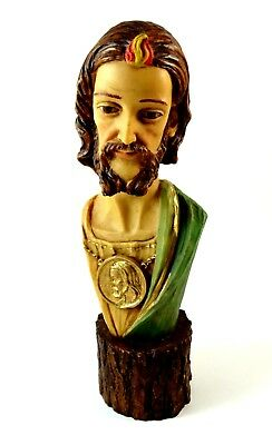 Saint Jude Figurine Religious Statue Heavy Made in Italy 10""
