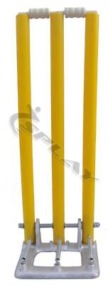 Cricket Poly Plastic Spring Stumps back loaded iron base indoor outdoor bails