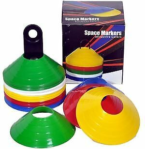 Space markers set of 50 with carrier safety sports pitch flags boundary plastic