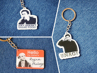 Unique Cool Friends TV Show Ross Joey Phoebe Acrylic Figure Keychains Key Ring