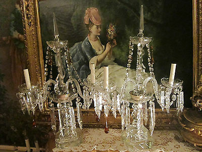 XLG pr Antique Chech st Crystal Banquet Table Chandelier/Girandole/Lamps