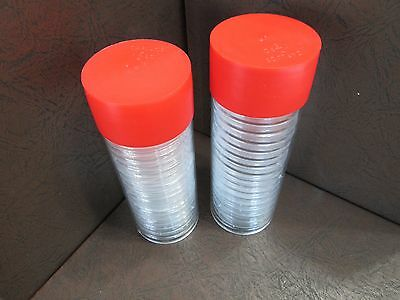 2 Storage Tubes for H Model Coin capsule Holders /& 40 x 38 mm capsules
