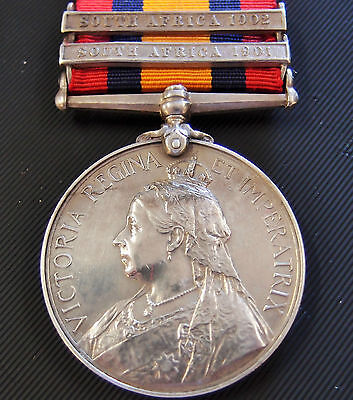 Vintage Pre Ww1 British Boer War Service Medal To Imperial Hospital Corps Canin