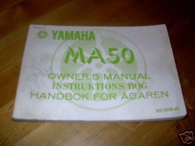 Yamaha Ma50 Ma 50 1980 Genuine Owners Manual