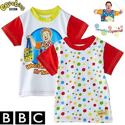 BBC Something Special® Mr Tumble Children Kids Baby Spotty T-Shirt New Pack of 2