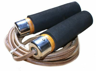 Heavy Duty 3 Leather Rope PRO Weighted Skipping foam Jumprope jump BOXING