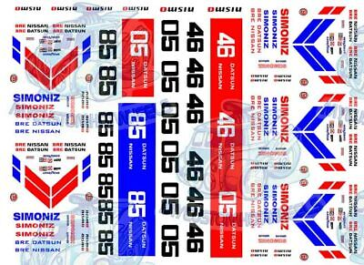 BRE Racing Decals | Waterslide Transfers for Hot Wheels & 1:64 scale Model Cars