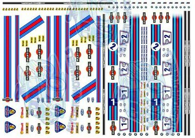[MARTINI RACING PACK] Hot Wheels Decals and Racing Livery in 1:64 Scale