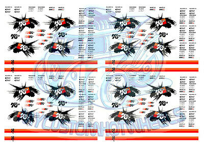 K&N Racing | Waterslide Decals for Model Cars in 1/64, 1/32, 1/24 and 1/18 scale