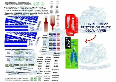 FAST AND FURIOUS DECALS - Waterslide Decals for Hot Wheels & 1:64 Model Cars