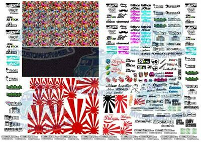 JDM 3 - Rising Sun & Stickerbomb | Waterslide Decals in all scales up to 1:24